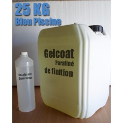 Topcoat PNG bleu Piscine / Gelcoat de finition  25KG